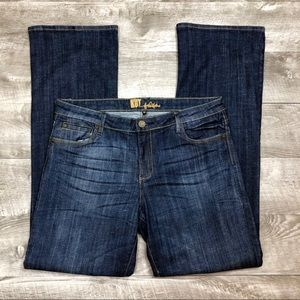 EUC Kut from the Kloth Bootcut Dark Wash Jeans